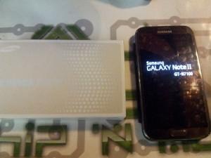 Galaxy note 2 après réparation chip'n modz
