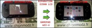 Réparation de l'écran LCD du gamepad (manette / tablette) pour Nintendo Wii-U