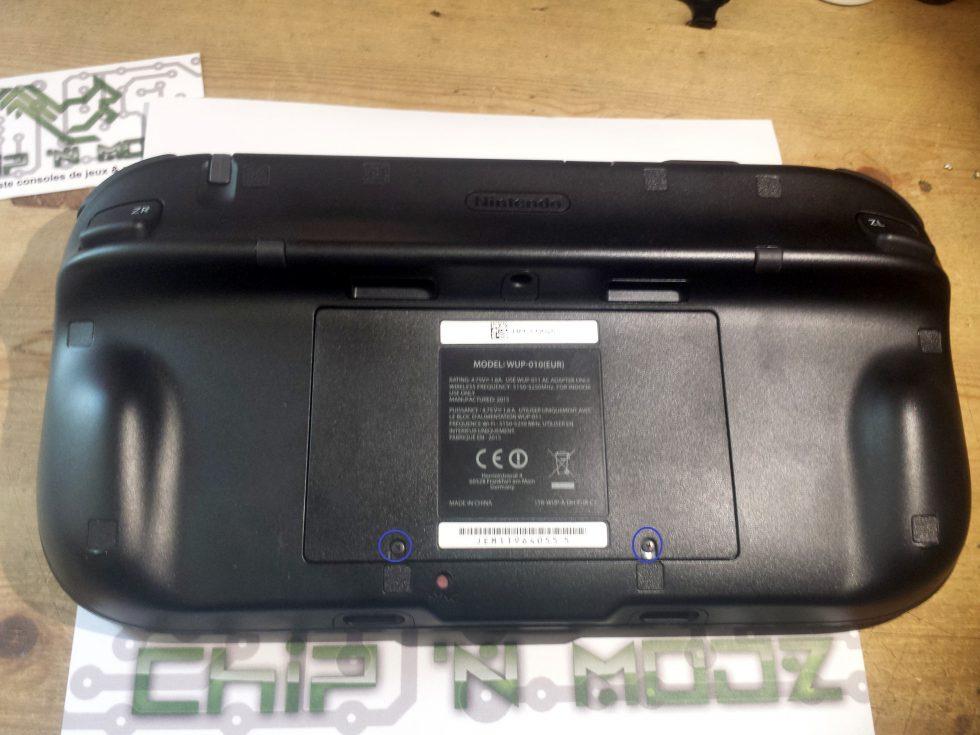 Gamepad cache batterie