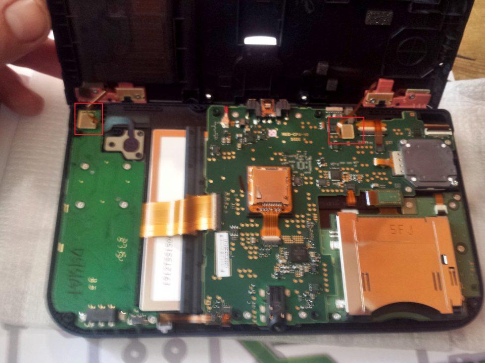 new 3DS XL, nappe gachettes a debrancher