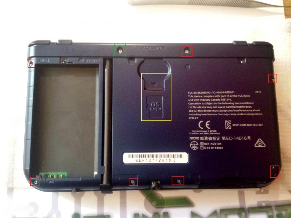 retrait des vis new3DS XL