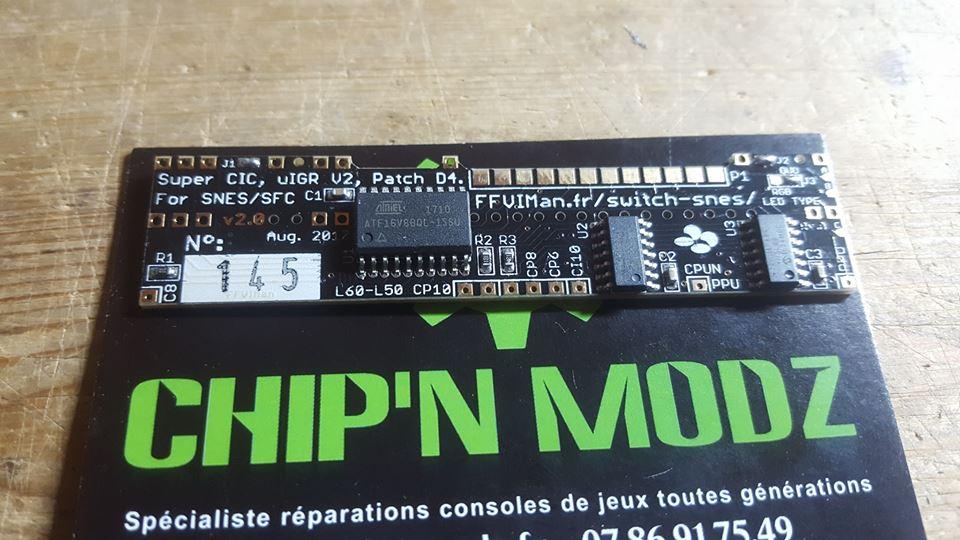 """MOD SWITCHLESS SNES/SFC: Profitez du Mod """"Ultime"""" (SUPER CIC, uIGR & PATCH D4) grâce aux PCB de FFVIMan"""